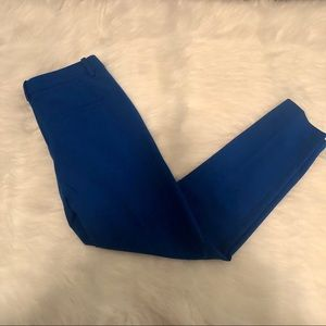 Zara Dress Pant Crop Ankle Royal Blue Xsmall
